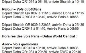 Qatar Airways double ses fréquences vers Dubai et Abu Dhabi