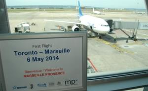 Marseille : le 1er vol d'Air Transat en provenance de Toronto s'est posé mardi 6 mai 2014