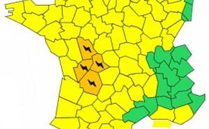 Orages : 4 départements en alerte orange
