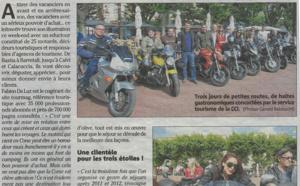 """Corse : Les """"Motards du Tourisme 2014"""" font la Une de la presse locale"""