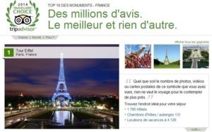 La Tour Eiffel, premier monument français sur TripAdvisor