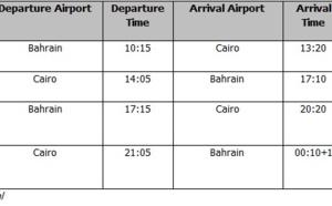 Gulf Air : 12 vols hebdos entre Bahreïn et Le Caire dès le 23 juillet 2014