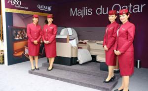 A380 : Qatar Airways dévoile son nouveau siège Première classe à Paris