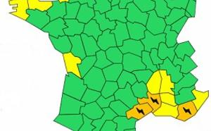 Orages : l'Hérault, le Gard et le Var en alerte orange