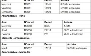 Air Madagascar : 3 vols hebdo de CDG et 1 de Marseille pour l'Hiver 2014/2015