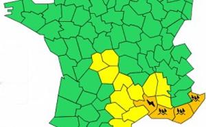 Sud-Est : 4 départements en vigilance orange aux pluies et orages