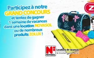 Novasol lance un jeu-concours avec une marque d'accessoires pour animaux