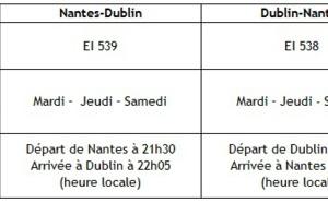 Aer Lingus volera entre Nantes et Dublin du 2 mai au 9 septembre 2015