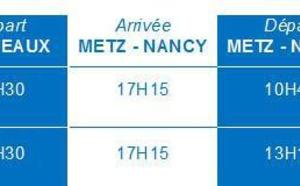 Twin Jet : vols Bordeaux Metz/Nancy dès le 13 avril 2015