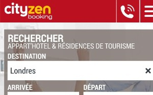 Mobile First : CityzenBooking  lance une version 100 % responsive design de son site
