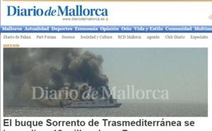 Majorque : 170 passagers évacués après l'incendie d'un ferry
