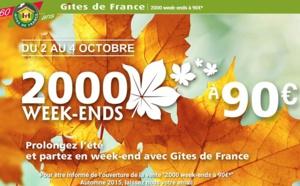 """Gîtes de France fête les 10 ans de l'opération """"2 000 Week-ends à 90 euros"""""""