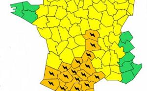 Orages : 17 départements français et Andorre en vigilance orange