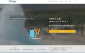 WebAward2015 : TripCreator, élu meilleur site internet de voyage de l'année
