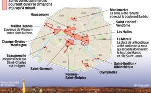 Paris : la carte des 12 zones touristiques internationales