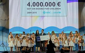 Milan Expo 2015 : MSC remet un chèque de 4 millions € à l'UNICEF