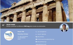 Grèce : Yalos Tours débarque sur DMCMag.com