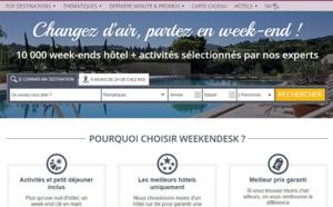 Weekendesk : +49 % de réservations pour la période des fêtes de fin d'année