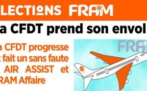 Elections FRAM : la CFDT obtient 100 % des voix chez FRAM Affaire et Air Assist