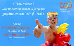 Top of Travel offre les séjours aux enfants en juillet et août 2016