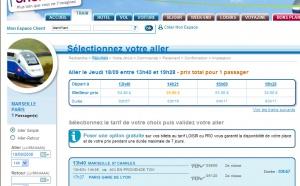 Horaires TGV : Voyages-SNCF.com l'affiche mal...