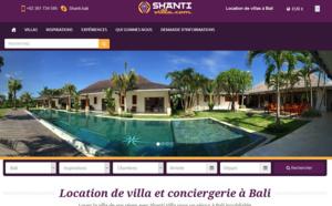 Bali, Asie : Shanti Travel lance Shanti-villa.com