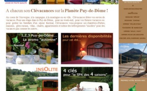 Clévacances : nouveau site Internet consacré au Puy-de-Dôme