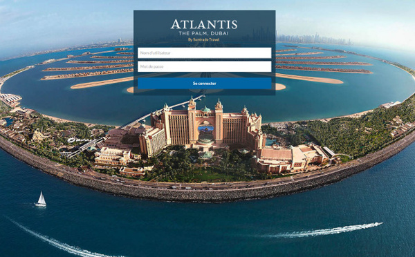 Suntrade : un site BtoB avec des offres packagées à l'hôtel Atlantis The Palm Dubaï