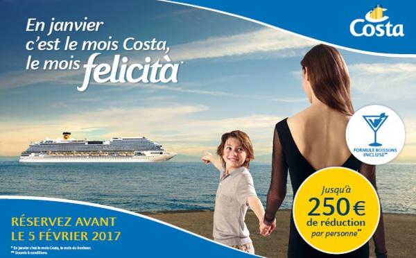 Costa Croisières démarre 2017 avec une campagne promotionnelle