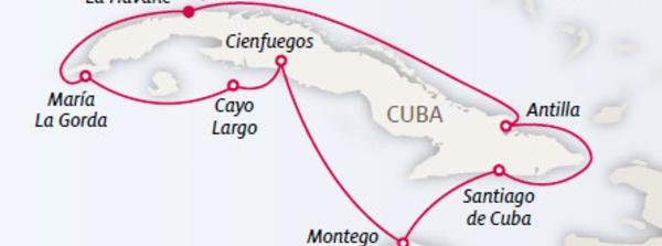 Cuba : challenge de ventes de Kuoni sur un séjour croisière
