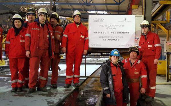 Ponant : la construction du Lapérouse a débuté en janvier 2017