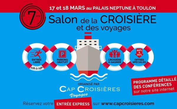 Le 7ème salon de la croisière et des voyages se tiendra à Toulon ce week-end