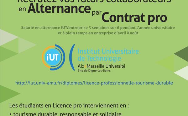 Licence professionnelle Tourisme durable en alternance