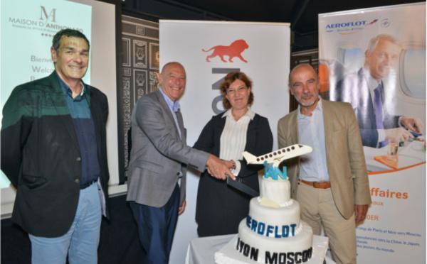 Lyon-Saint Exupéry fête le 1er anniversaire du Moscou-Lyon d'Aeroflot