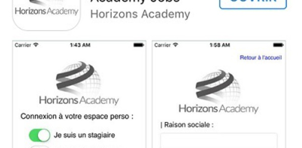 Recherche d'emploi : Horizons Academy lance son appli mobile