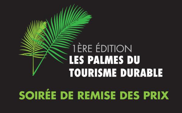 Première soirée de remise des prix des Palmes du Tourisme Durable