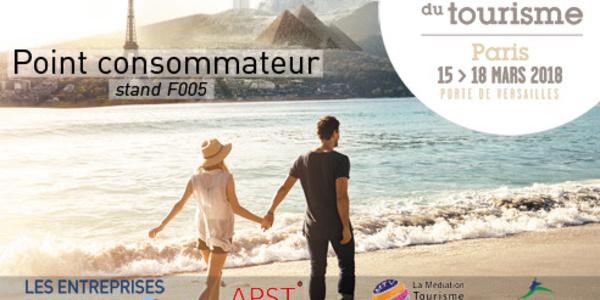 """Salon Mondial du Tourisme  : EDV, APST et MTV animeront un stant """"point consommateur"""""""