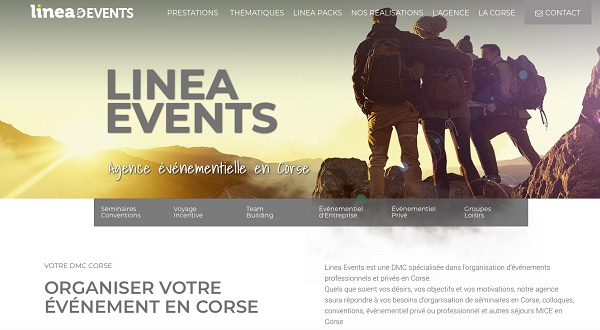 Linea Events lance son site internet événementiel