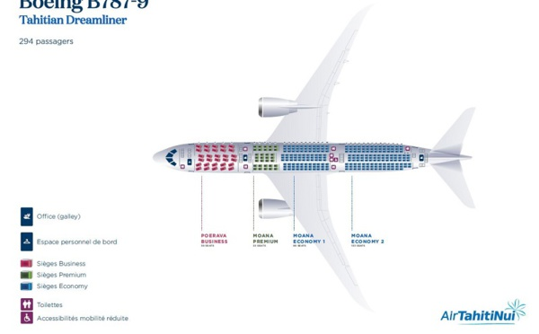 Les dreamliner d'Air Tahiti Nui ouverts à la vente