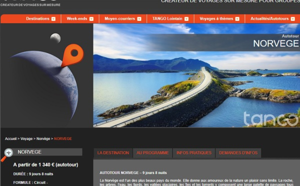 Groupe : Tango Voyages s'ouvre aux agences de voyages