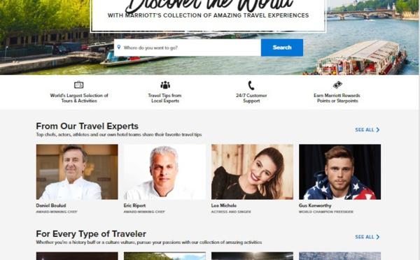 Marriott lance sa plateforme d'expériences