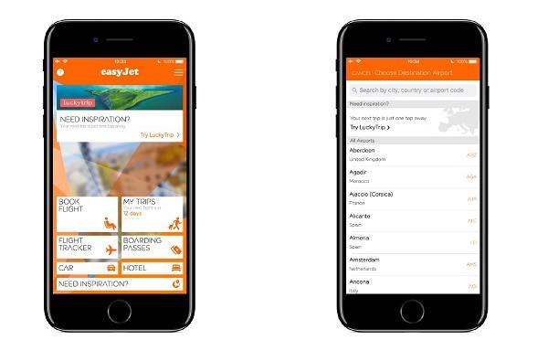 easyJet intègre la start-up LuckyTrip à son application