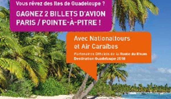 Air Caraïbes et Nationaltours font gagner 2 billets Paris – Pointe-à-Pitre
