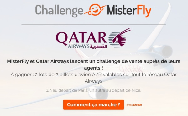 Misterfly et Qatar Airways font gagner des billets d'avion