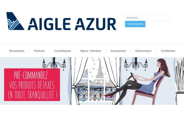Aigle Azur livre les commandes de produits détaxés à bord de ses avions