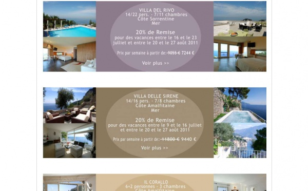 VILLE IN ITALIA VOUS PROPOSE SES OFFRES SPECIALES!