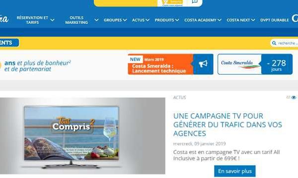 Costa Croisières lance un nouvel outil pour les clients des agences