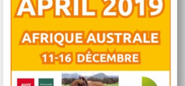 April Int. Voyage : la destination du Trophée 2019 sera...
