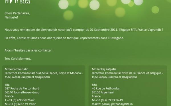 SITA: NOTRE EQUIPE FRANCE S'AGRANDIT!