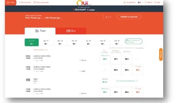 Cdiscount élargit son offre voyages avec OUI.sncf